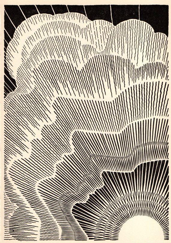 1953 DON BLANDING Original Art Deco Vintage by GailsVintagePrints