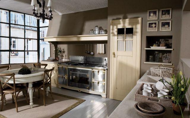 Küchenmöbel im Shabby-Chic-Stil-schwarz grau und cremefarben-Vintage ...