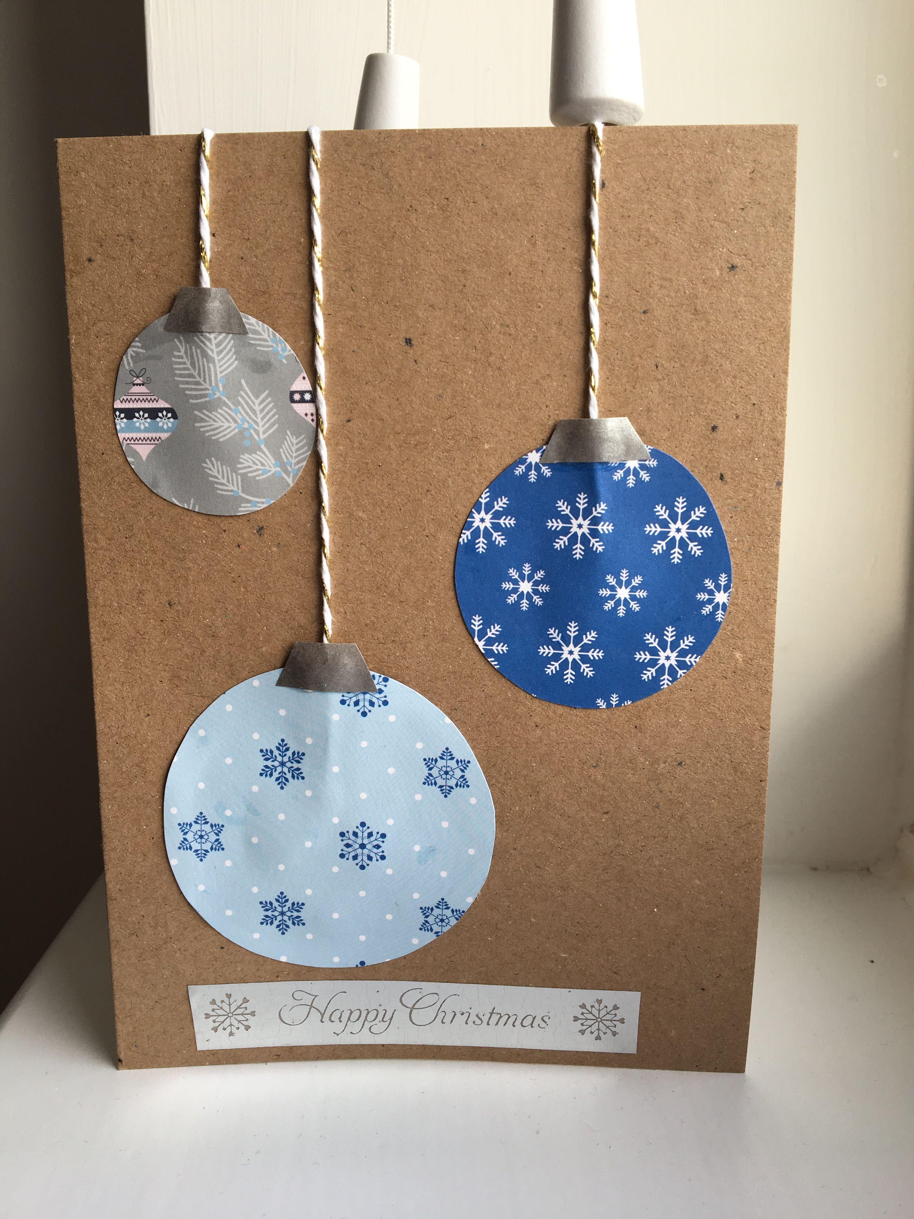Homemade Christmas cards for family 💕 Www.etsy.com/uk/shop/BeeCubedCrafts