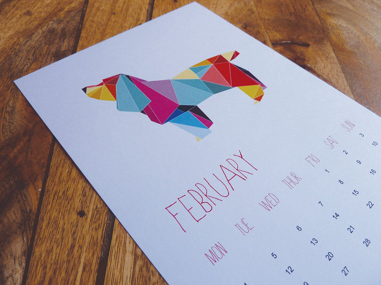 Origami Animal Calendar 2015 Origami animals, Calendar