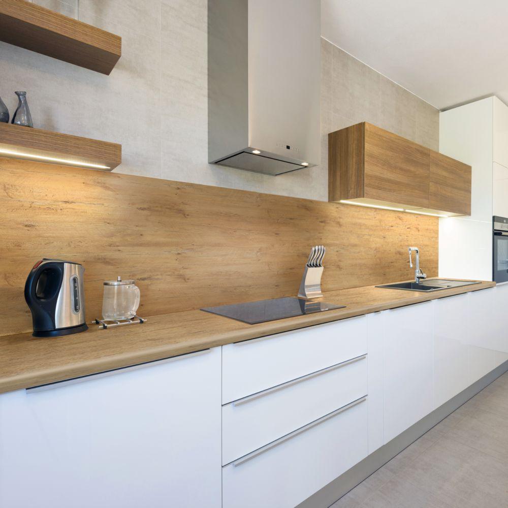 Blaty Laminowane Imitacja Drewna W Sklepach Leroy Merlin Strona 2 Backsplash With Dark Cabinets Kitchen Cabinets Dark Cabinets