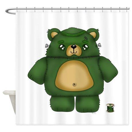 Frankenstein Bear Shower Curtain