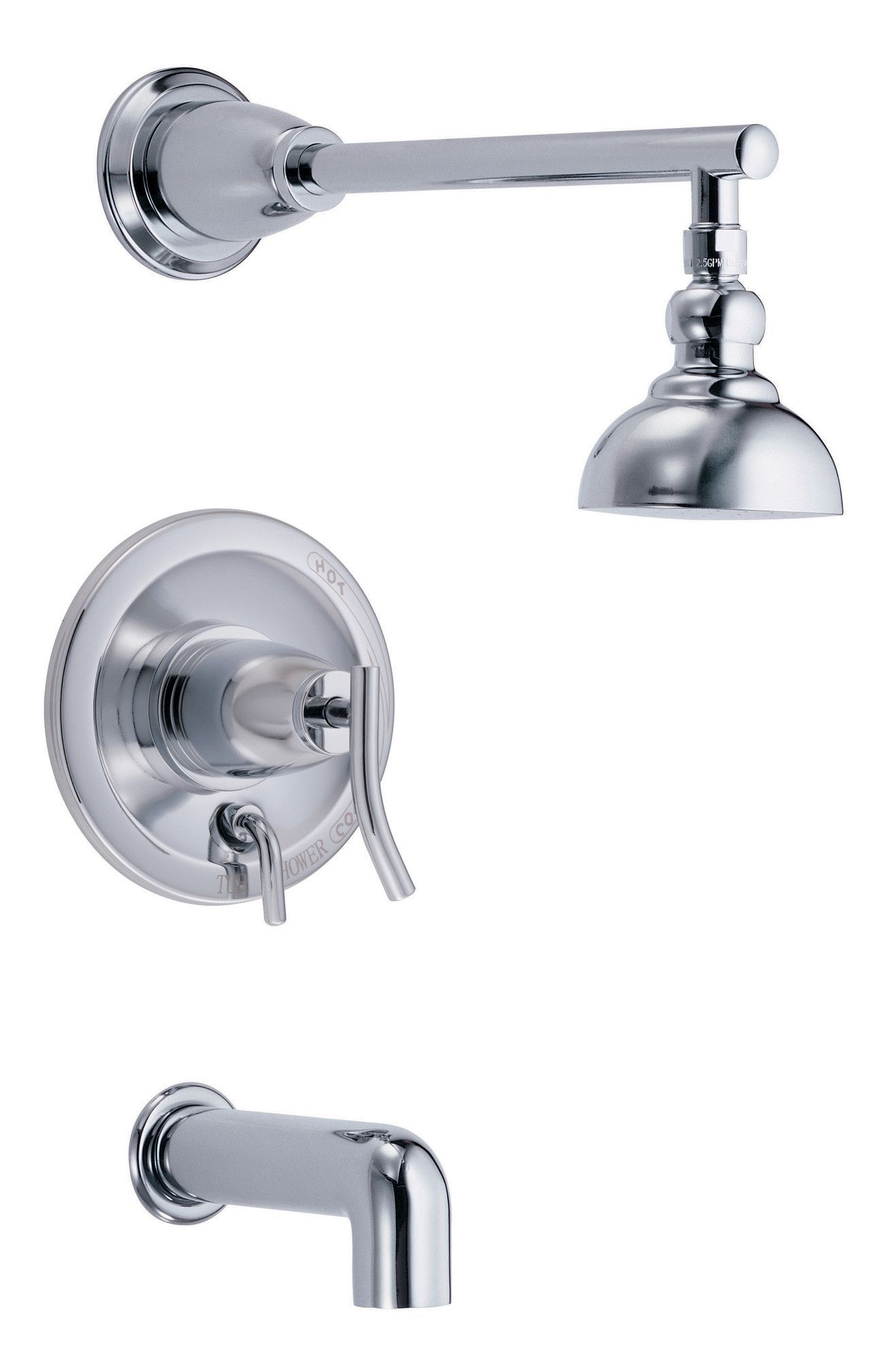Sonora Pressure Balance Diverter Tub and Shower Faucet