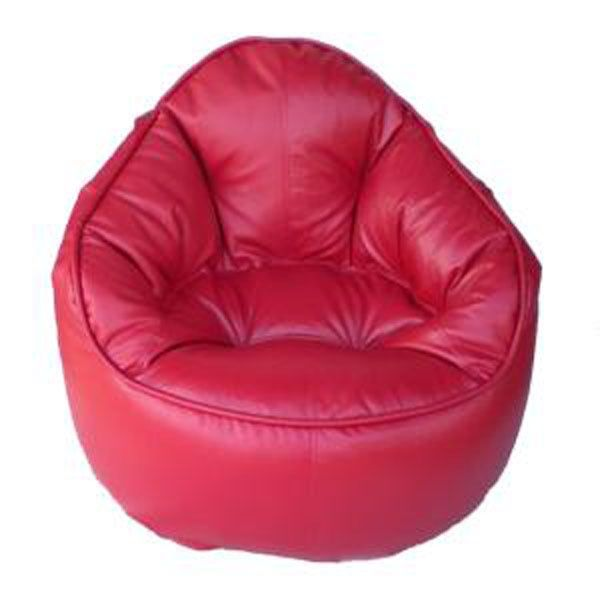 Leather Red Bean Bag Chair Cover Covers