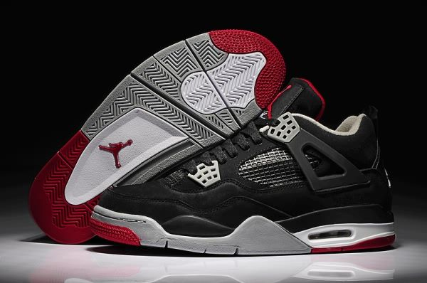 Nike Air Jordan 4 Mens Shoes Black White