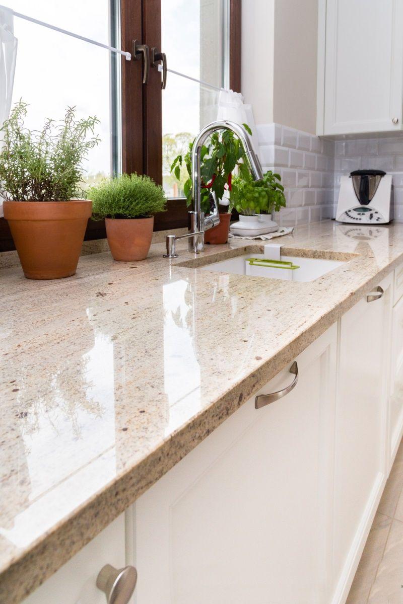Ivory White - Strahlende Granit Arbeitsplatte Ivory White  Granit