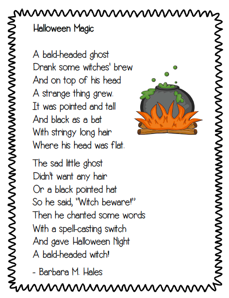 finally in first freebie mental images read the room and more halloween poemsprimary - Good Halloween Poems