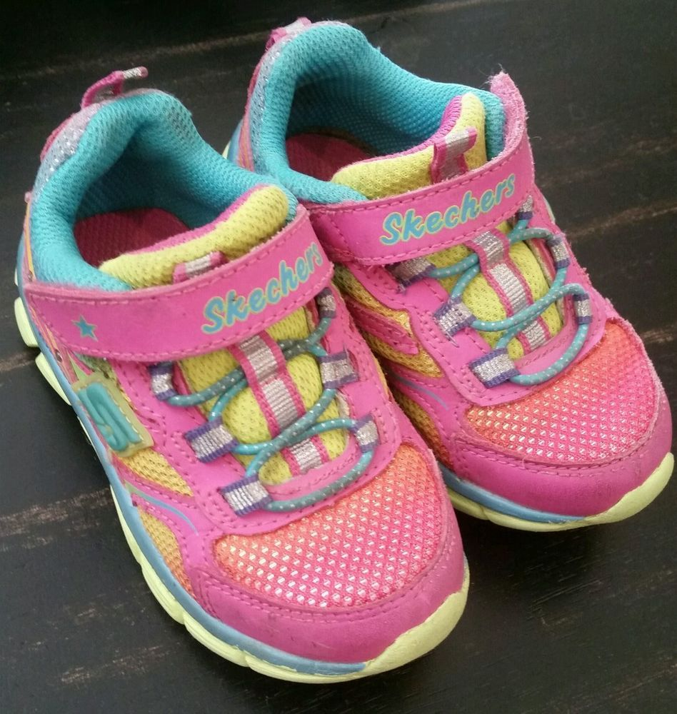 Toddler Girl Skechers Light Up Shoes size 7 #Skechers ...