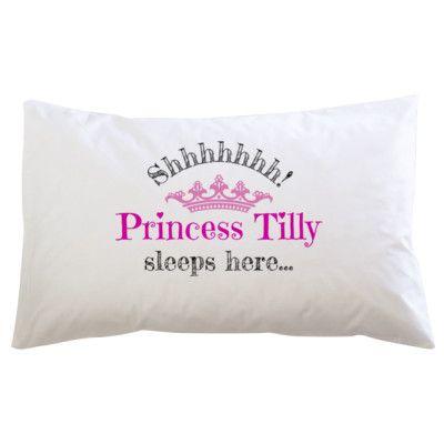 Shhh Princess sleeping - Pillowcase. PillowcasesArt Ideas