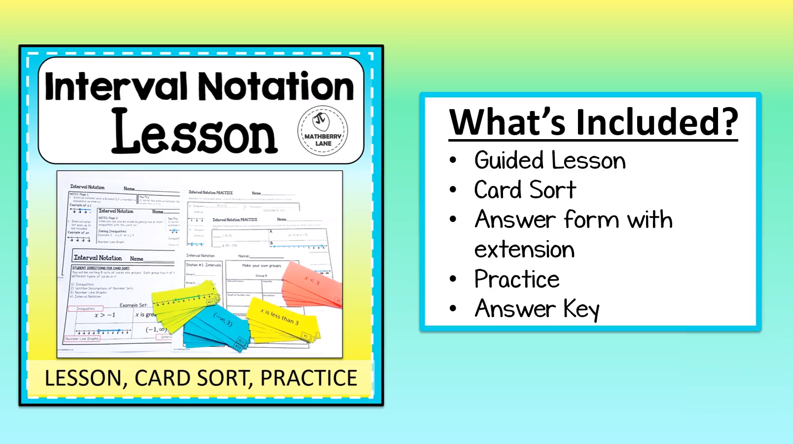 Introducing Interval Notation Worksheet