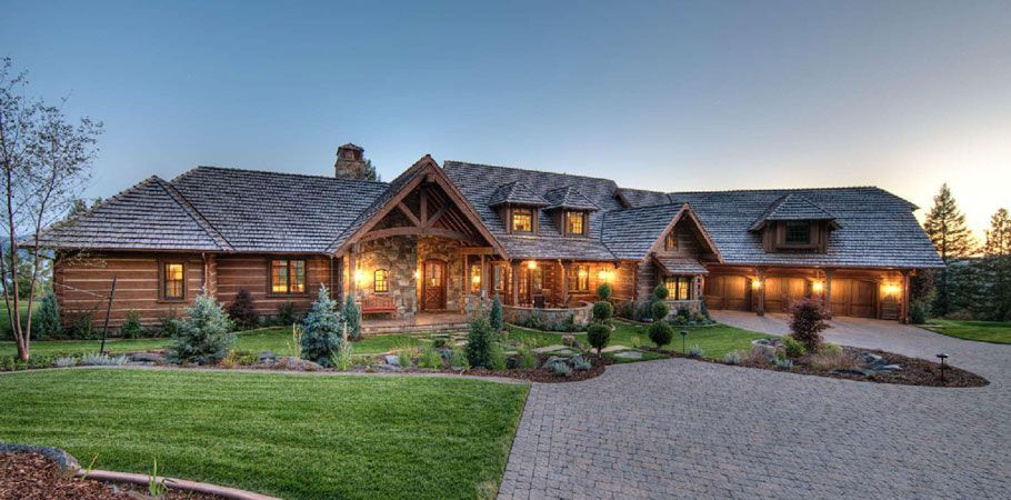 Exterior: Silver Metal Roof Log House - Google Search