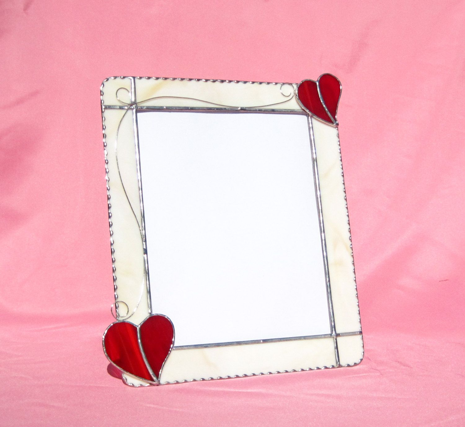 love me tender frame 8 x 10 stained glass frame picture frame valentines day picture frame glass valentine frame valentine heart frame