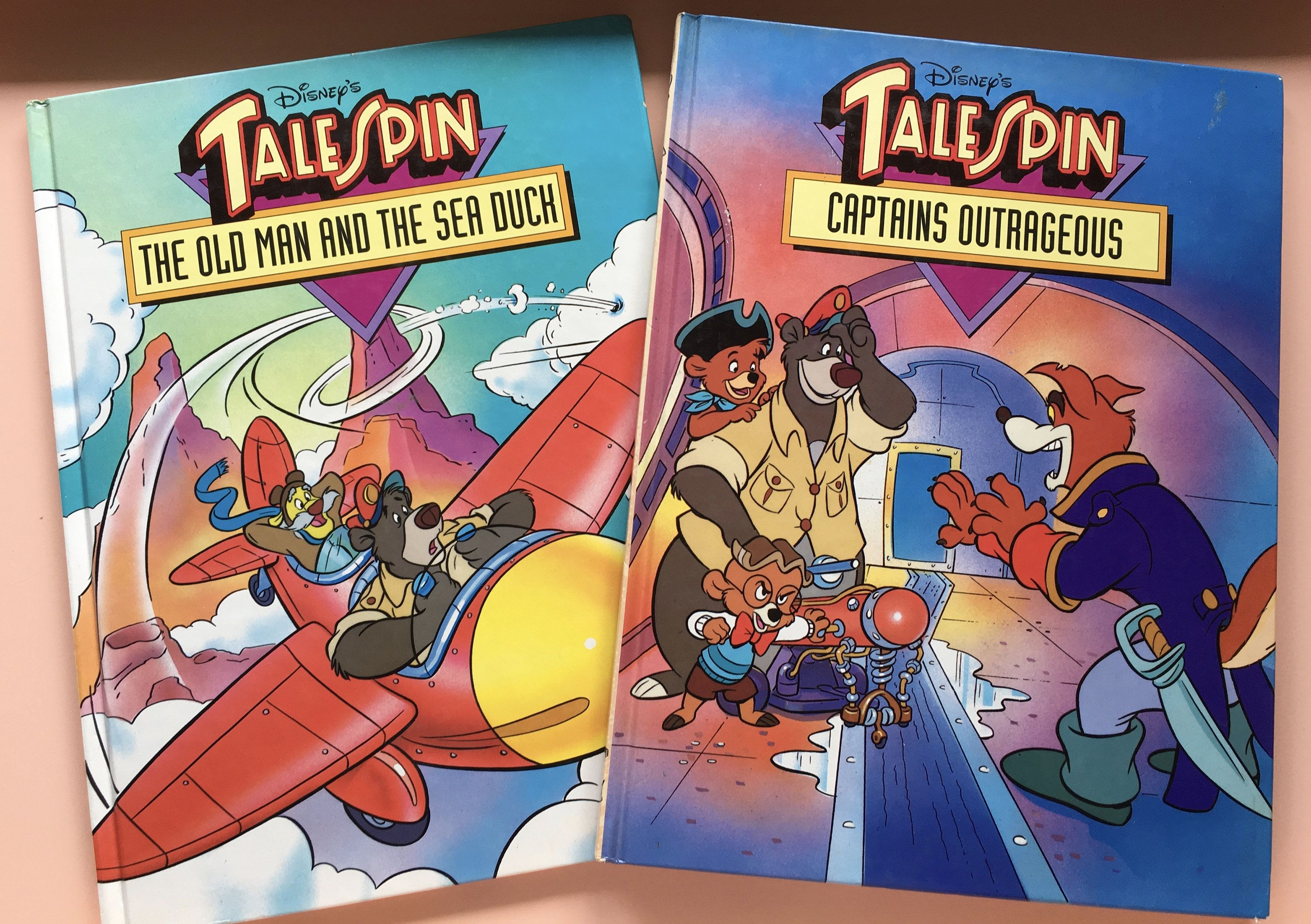 1991 Disney's TaleSpin Large Format Children's Storybooks