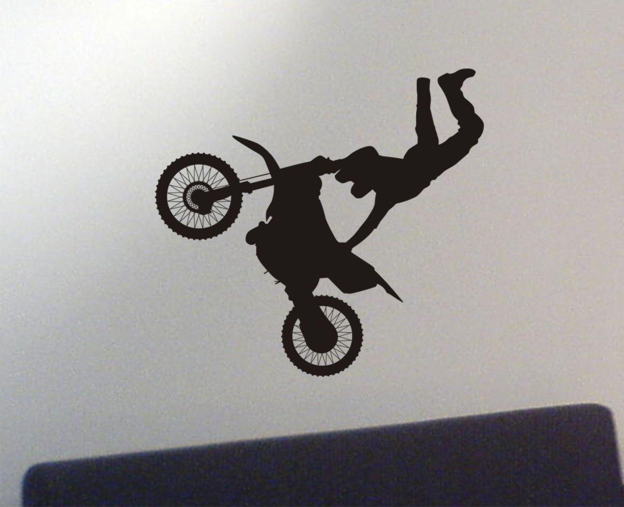 Dirtbike wall decal - motocross sticker | Motocross, Wall decals ...
