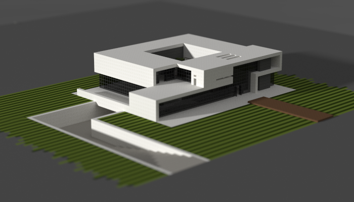 A Large Modern House Made In Minecraft Minecraft