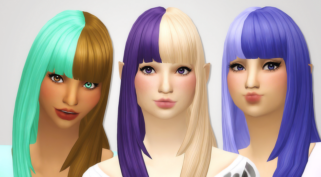 Noodles Cats And Dogs Two Toned Bangs Recolors Sorry This