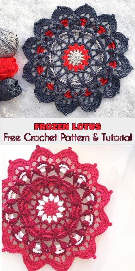 Frozen Lotus Free Crochet Pattern and Tutorial