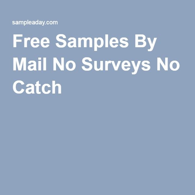 Free Samples By Mail No Surveys No Catch  Deals  Steals
