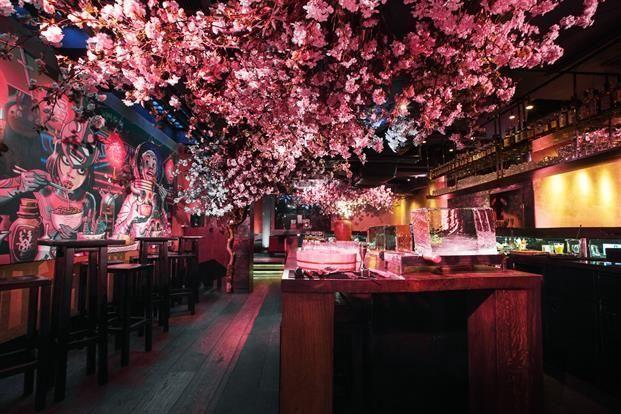 Cherry Blossom Bars Japanese Restaurant Interior Japanese Cherry Blossom Basement Bar Designs