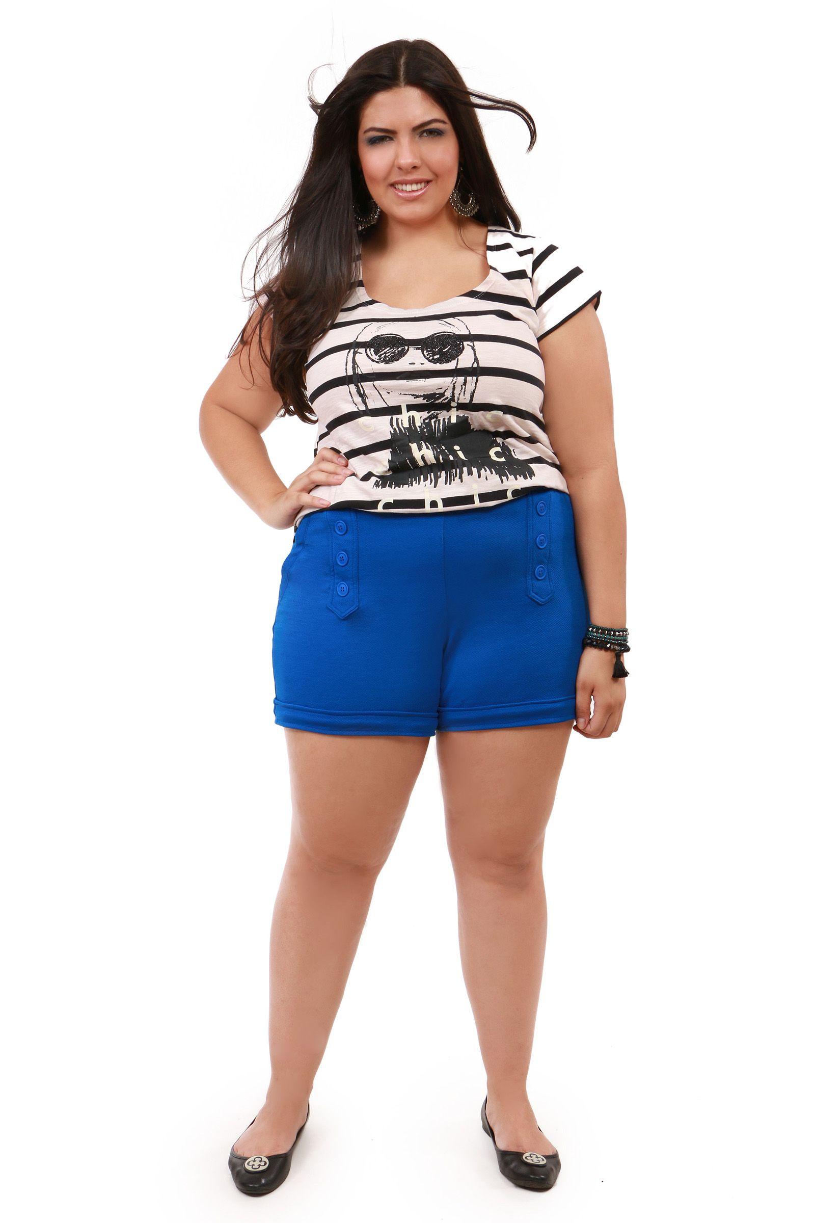 23692406de0f Shorts Malha Plus Size Kauê   Moda Plus Size -Shorts em alta kauê ...