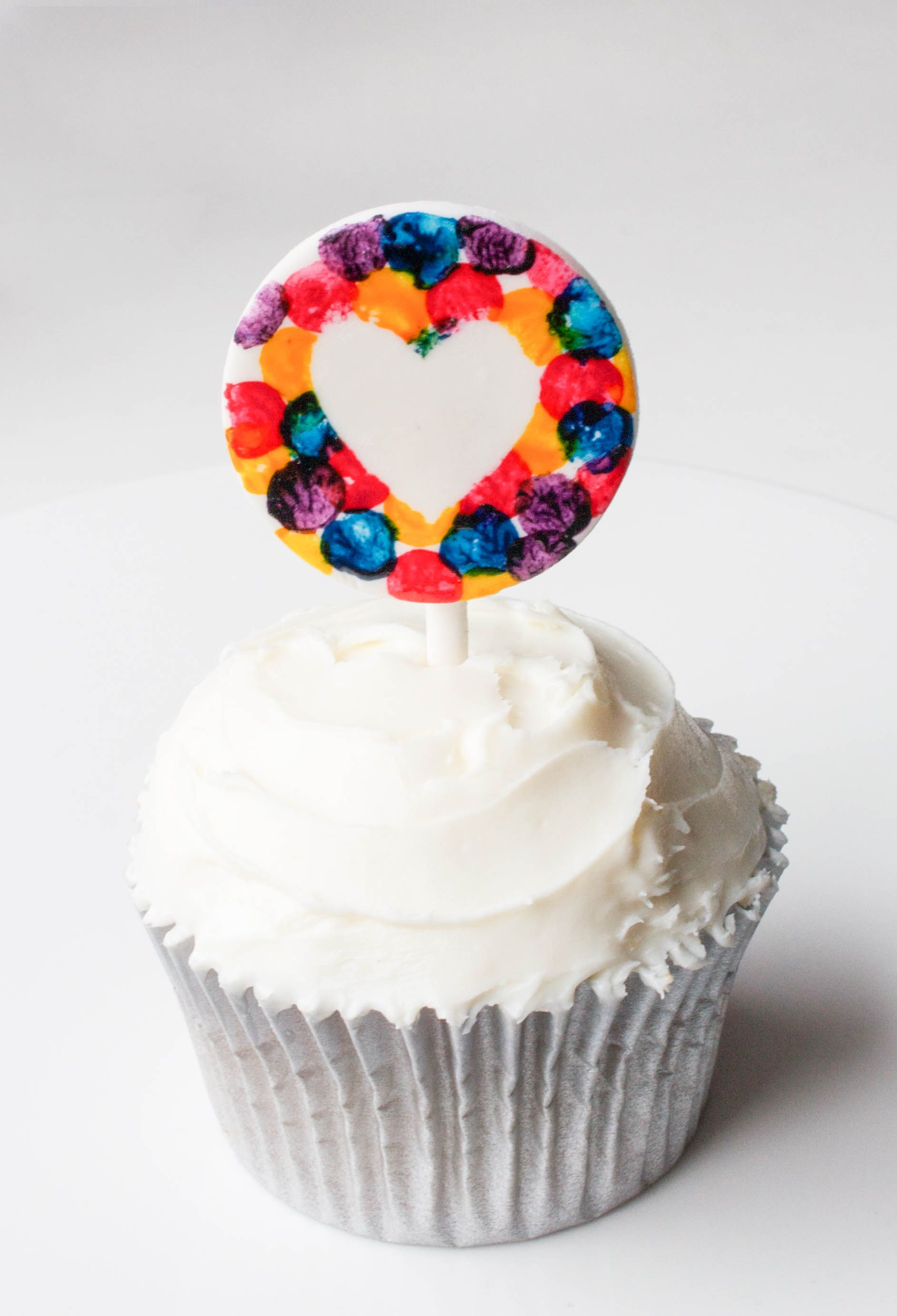 Stamped Confetti Cupcake Topper | Erin Gardner | Craftsy