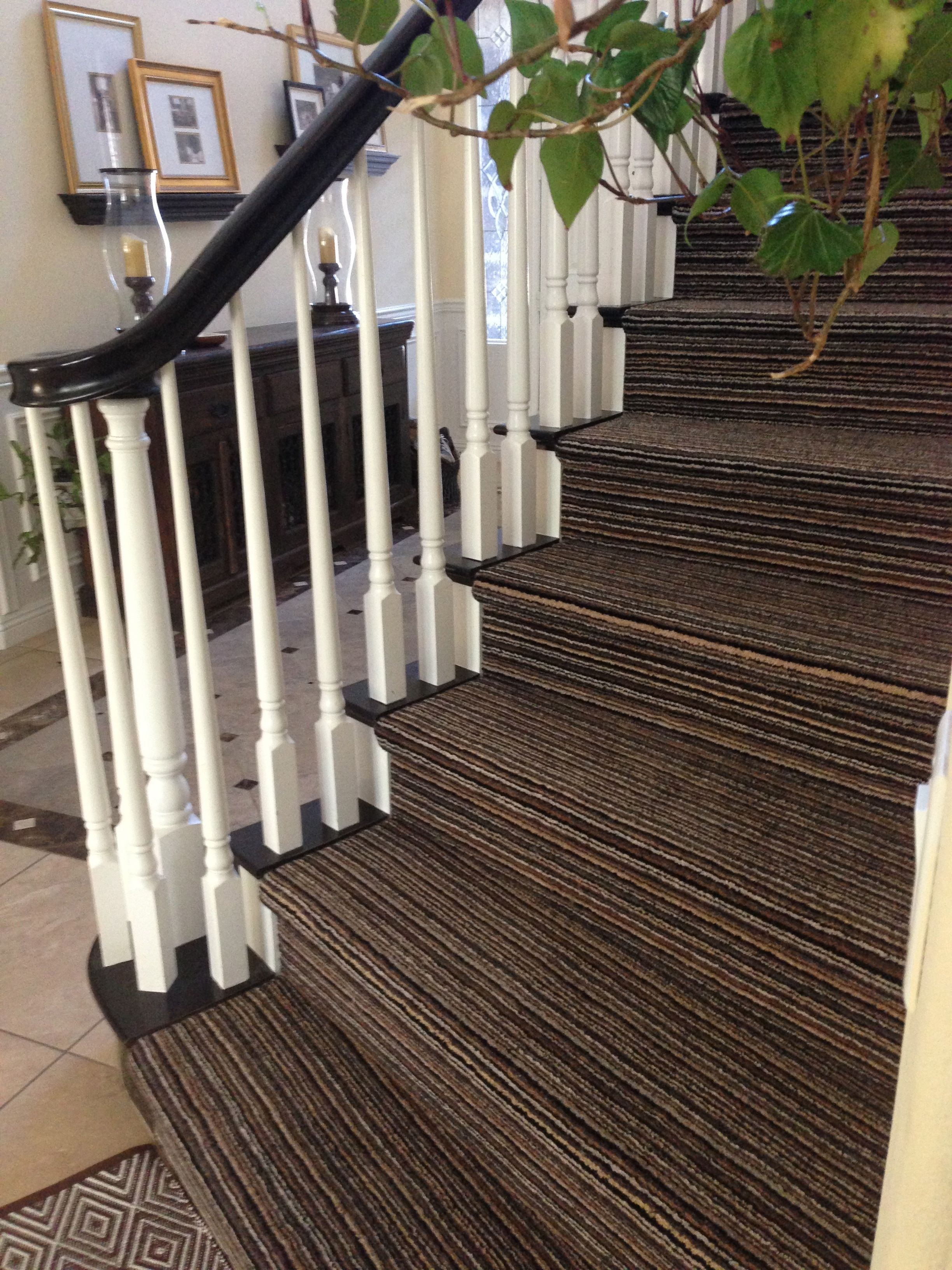 Most Stripey Stair Carpets Stripe Vertically But Horizontal
