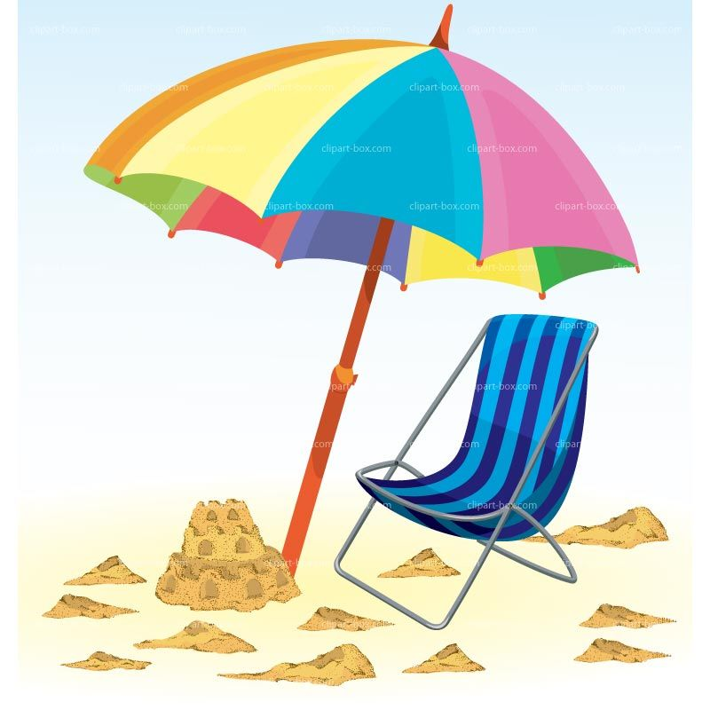 Beach drawings clipart summer holiday royalty free