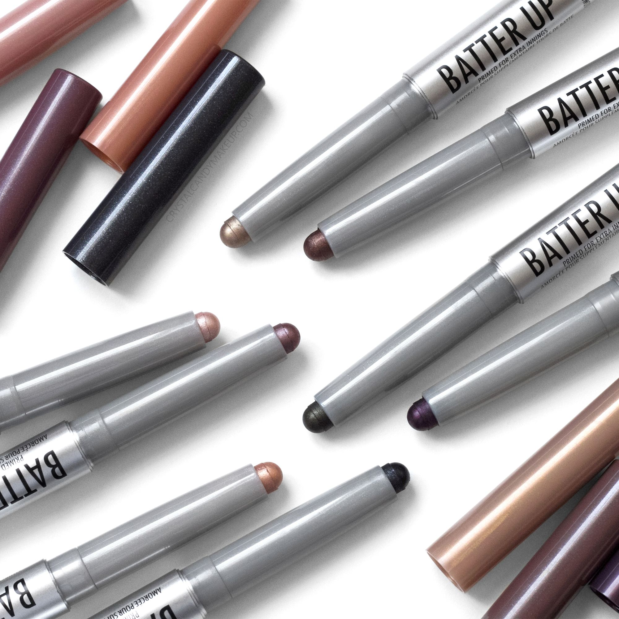 TheBalm Batter Up Eyeshadow Sticks, review and swatches