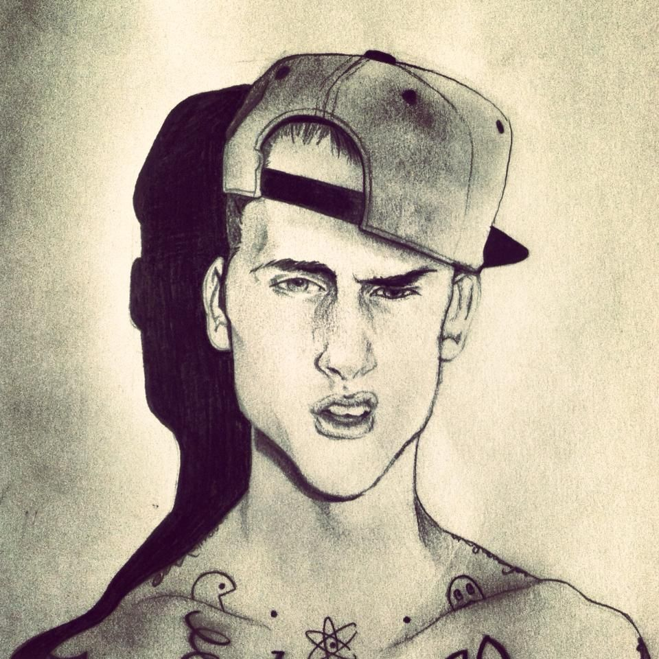 By shelby weber art sketch eyes pencil drawing mgk machine gun kelly tat ink tattoo snapback hot