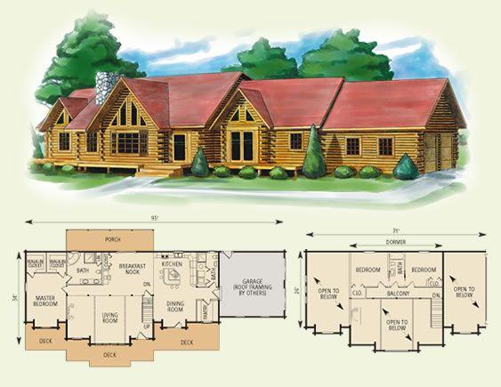 Kansas Log Home Floor Plan