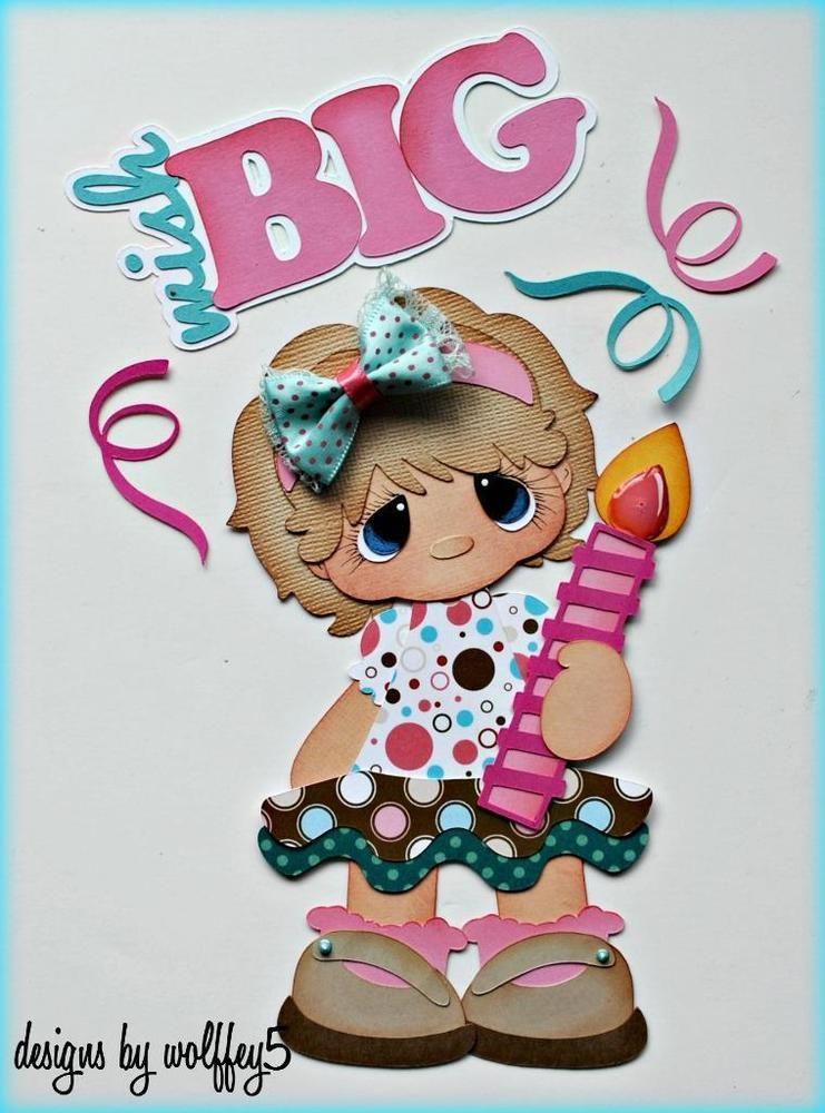 ELITE4U GIRL BIRTHDAY paper piecing premade scrapbook page album WOLFFEY5 in Crafts, Scrapbooking & Paper Crafts, Paper Piecing   eBay