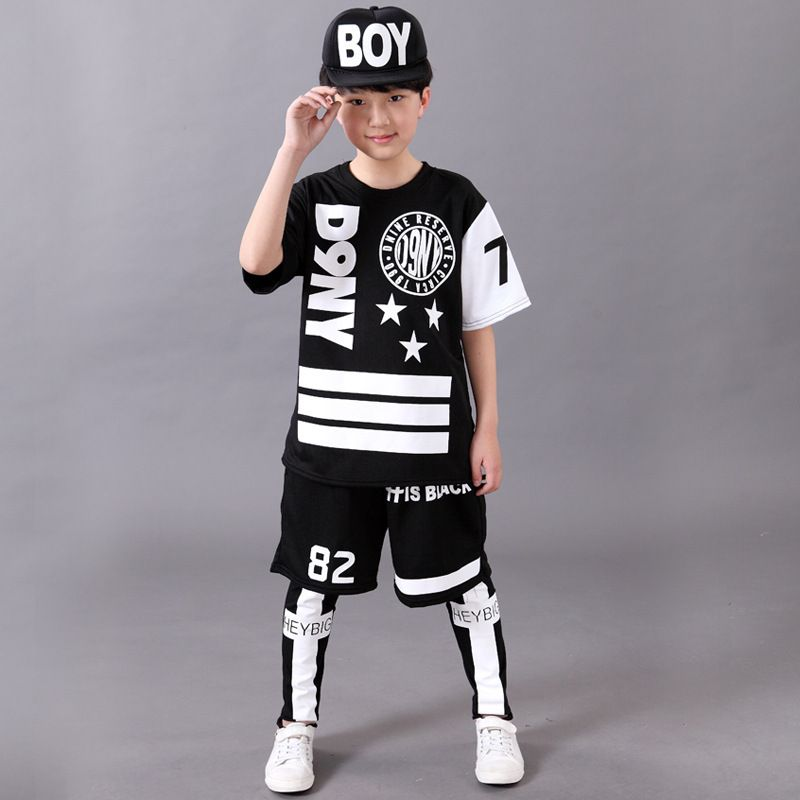 33604066f Click to Buy << Free Shipping Children Girls Boys Dance Wear Stage Ballroom  Hiphop Dance Costumes Jazz Hip Hop Pop Street Dance Clothes for Kids  #Affiliate