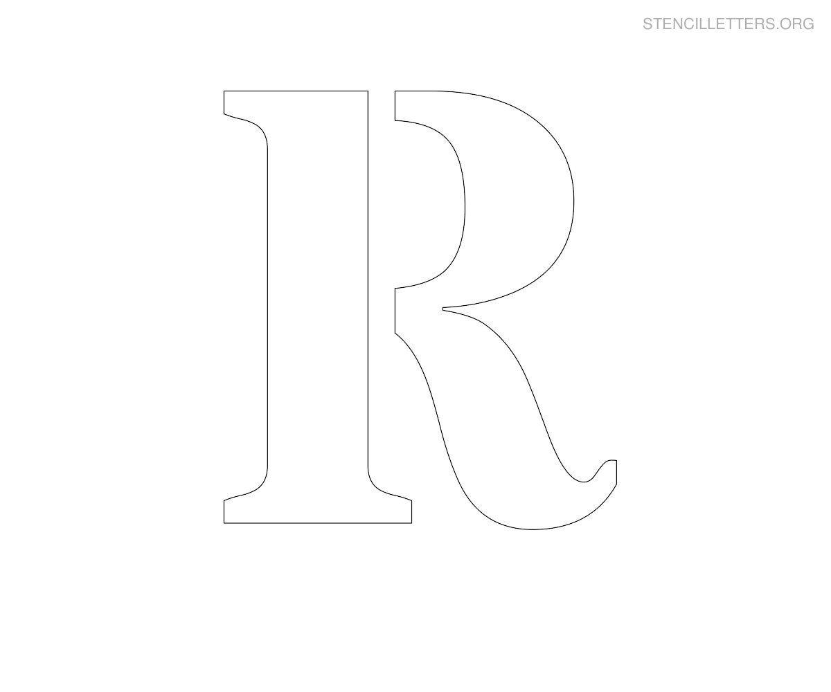Stencil letter large r pallets pinterest stencil lettering stencil letter large r pronofoot35fo Images
