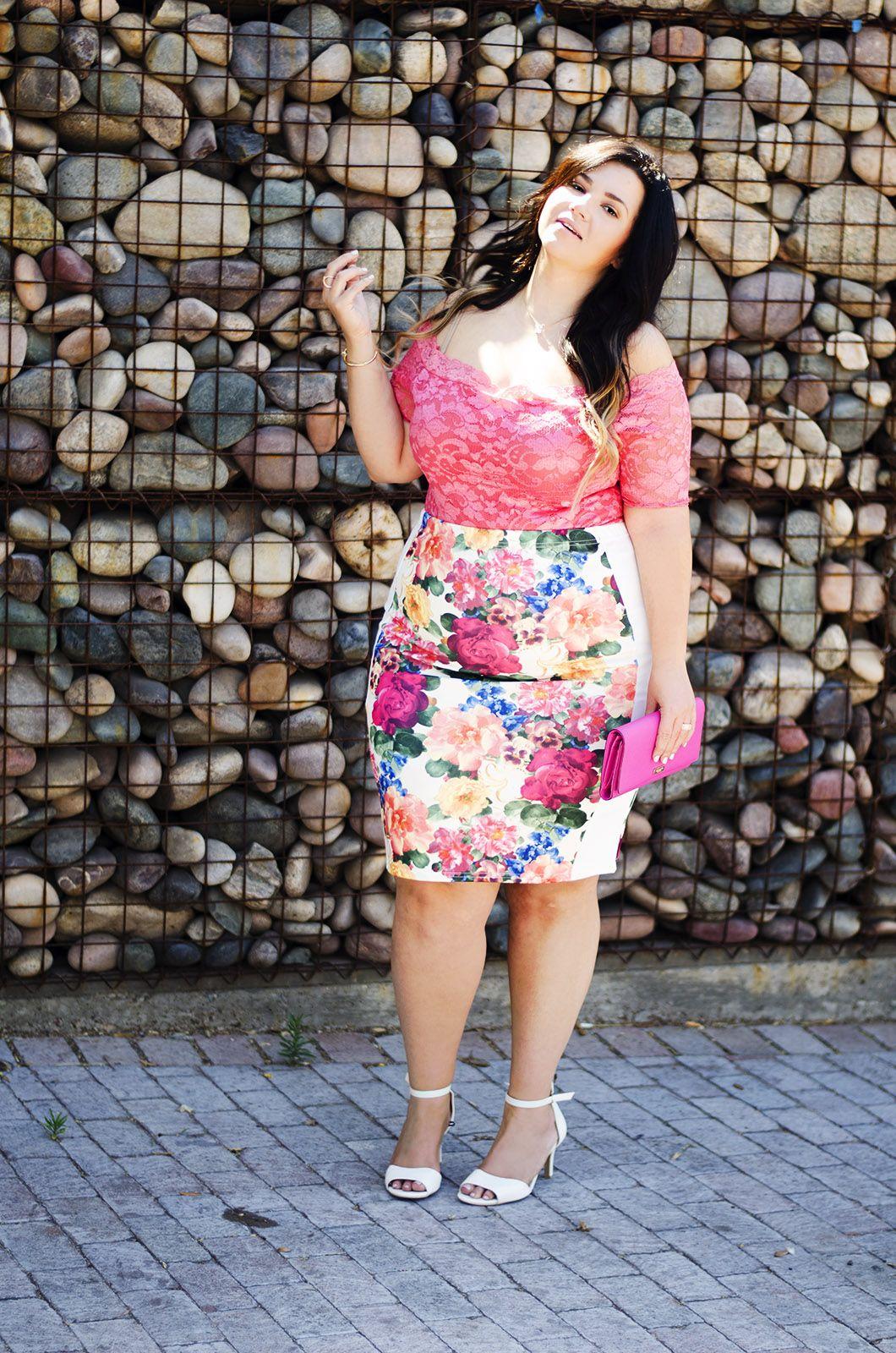 plus size bodysuit pencil skirt summer 2015 trends ootd ...