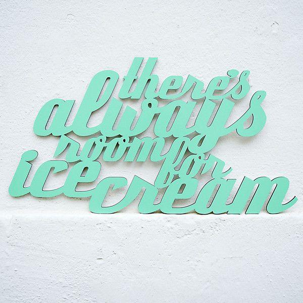 Weiteres - There's always room for ice cream (59x31cm) - ein Designerstück von westpakete bei DaWanda