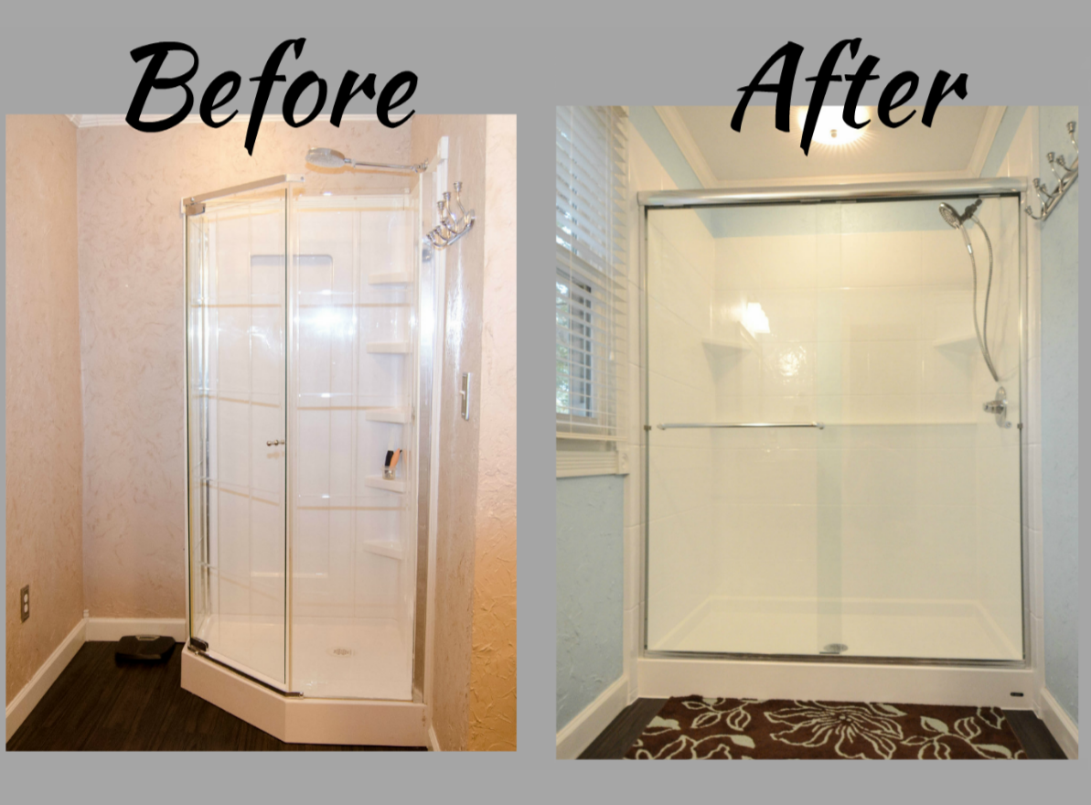 Shower Replacement   Shower Re Do   Glass Walk In Shower   Sliding Shower  Door