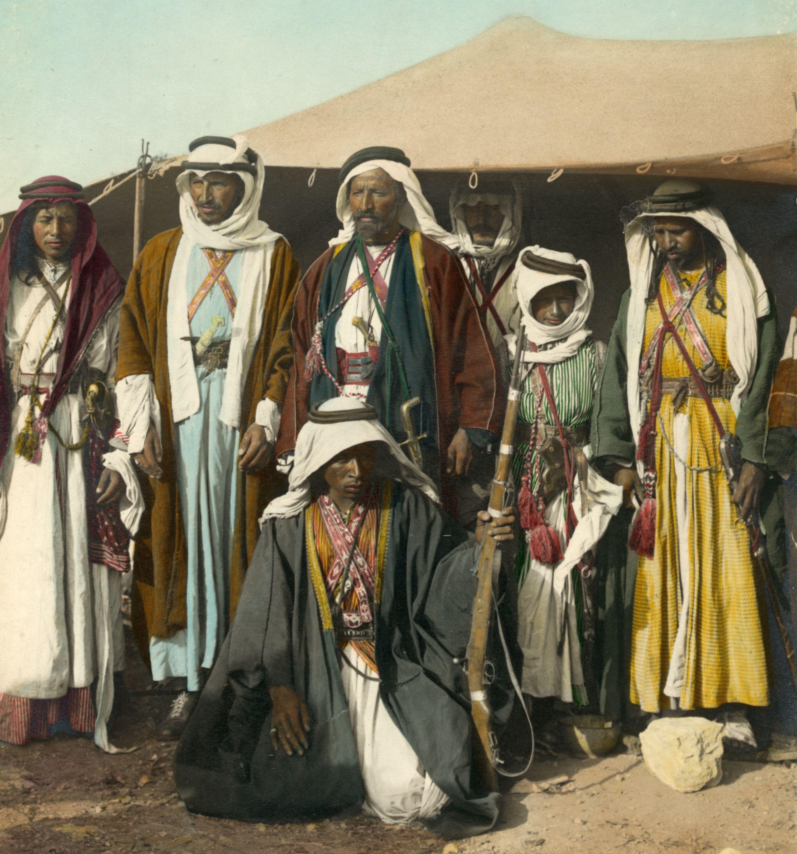 Bedouin Men In Front Of Tent 1898 To1946 Arabic Art Wasteland