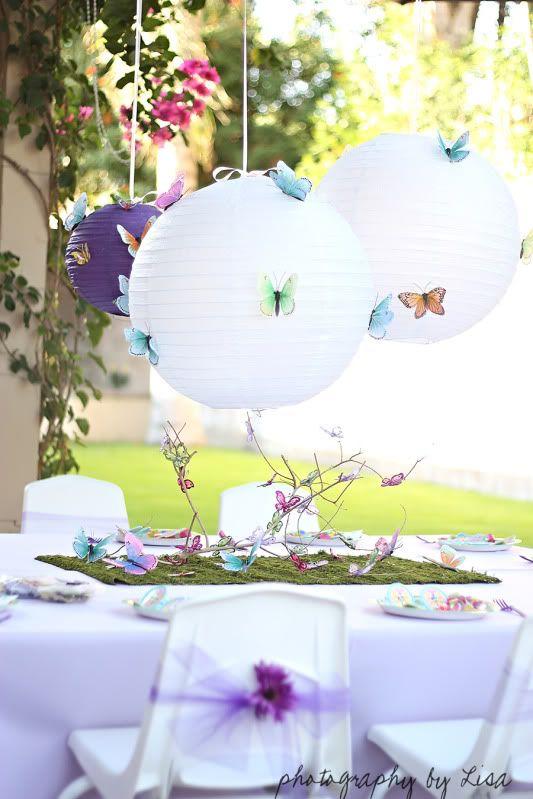 Butterfly Birthday Party Decor Ideas Via Lilblueboo