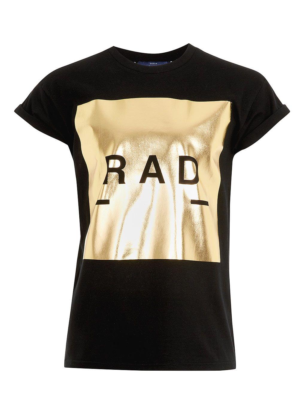 black rad gold foil print t shirt men 39 s t shirts pinterest