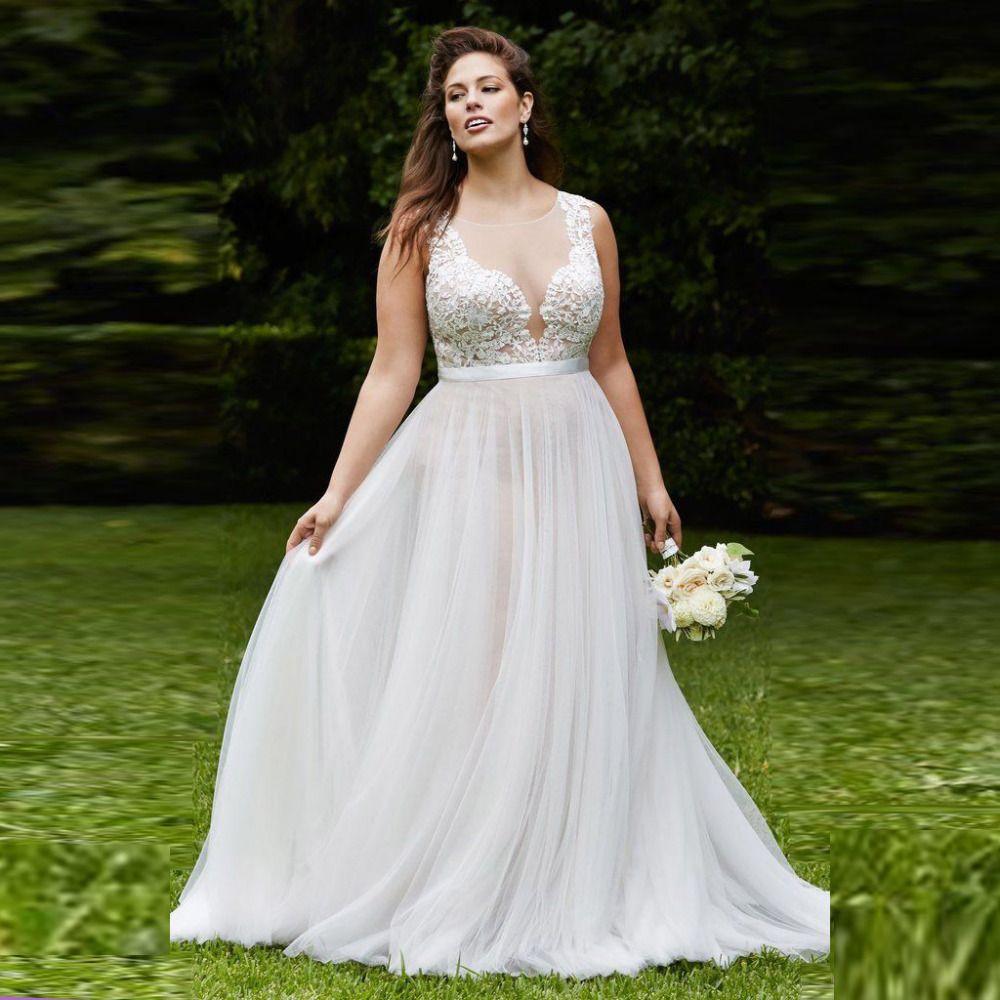 Tea length plus size wedding dresses  Find More Wedding Dresses Information about Designer Wedding Dress