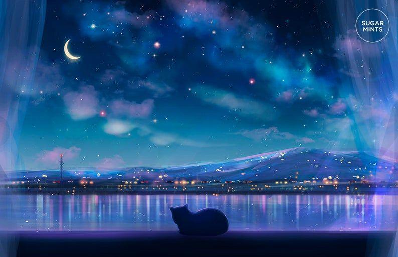 Anime Postcard: Cat City Views