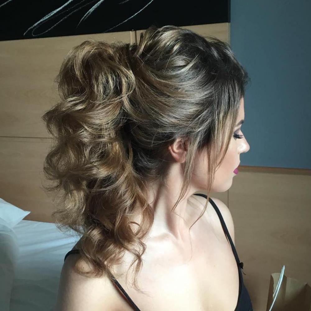 ponytail for layered hair | long hair hilights | ponytail
