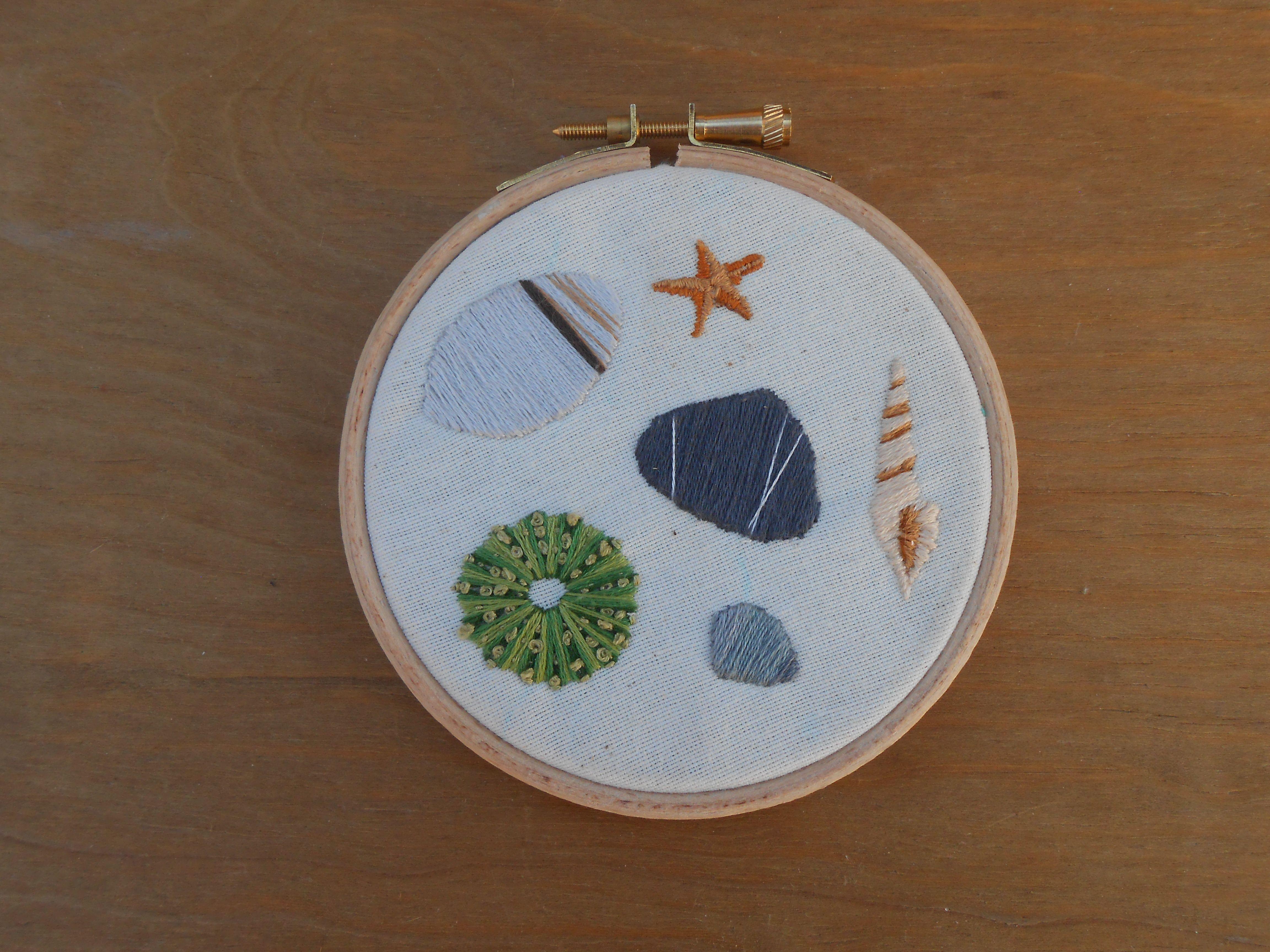 Bastidor bordado Tesoros de playa | Pinterest | Estrella de mar ...