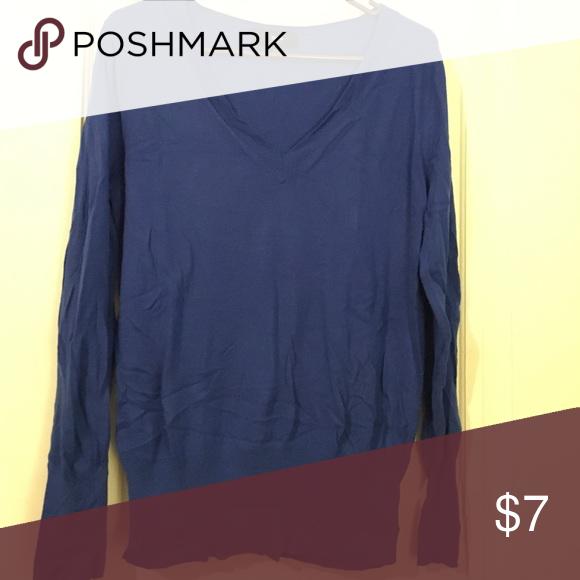Blue sweater Blue scoop neck sweater Mossimo Supply Co Sweaters Crew & Scoop Necks