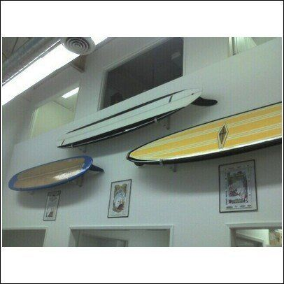 Standard Surfboard Horizontal Display Mount by Sports Ideas. $39.99. Imagine being able to take your priced possession surfboard and put it up on a wall. That is exactly what this mount system allows you to do. Getting your surfboard out of the corner of a room or out of the garage or out of that small closet is a great solution. This mounting system allows you to lift the board out and go surfing!!! Heavy duty construction. Also works on wake boards. Made in the USA.  We ...