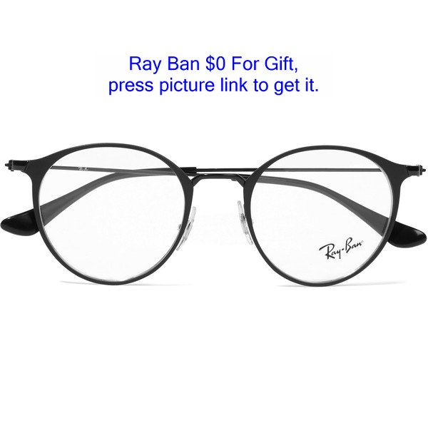 5aedf426cad Ray-Ban Round-frame metal optical glasses found on Polyvore featuring  accessories