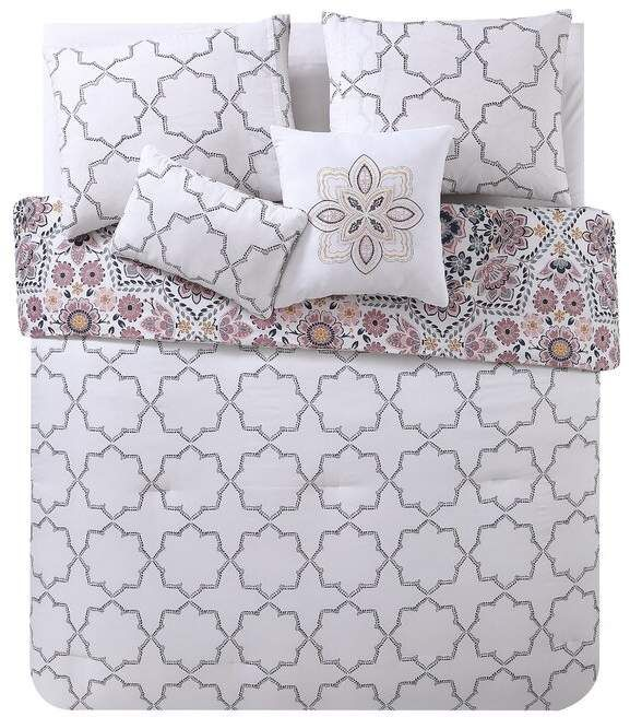 Bungalow Rose Lebo Reversible Comforter Set Comforter Sets