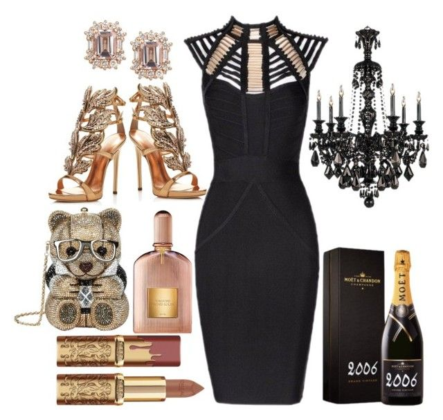 """""""Posh Feels"""" by pulseofthematter ❤ liked on Polyvore featuring Posh Girl, Giuseppe Zanotti, Judith Leiber, MoÃ«t & Chandon and Tom Ford"""