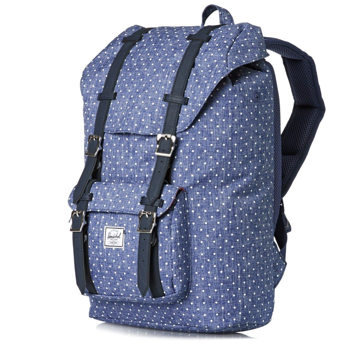 Women s Herschel Backpacks - Herschel Little America Mid-volume Laptop  Backpack - Limoges Crosshatch  f18da41bc540e