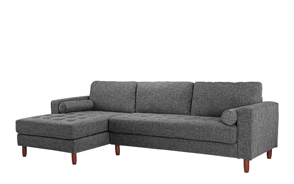 Details About Classic Fabric Sectional Sofa L Shape Couch With Extra Wide Chaise Dark Grey Fabric Sectional Sofas L Shaped Couch Fabric Sectional